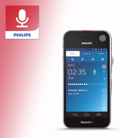 Philips Professional Voice Recorder app Update SpeechAir