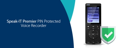 Speak-IT Solutions Pin Protected Voice Recorder, Simplicity and Security