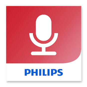 Philips Voice Recorder App, PVR App for iOS and Android