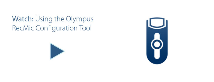 Olympus Recmic Configuration Tool Video Tutorial, speakit.blog, Speak-IT Solutions