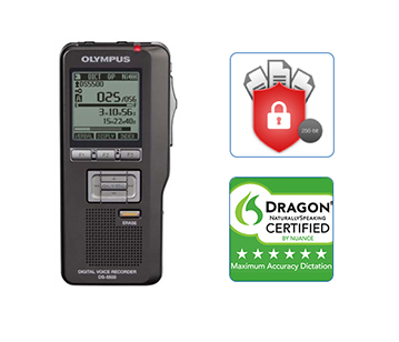 Olympus DS-5500 professional dictation device, voice recorder, nuance dragon speech recognition