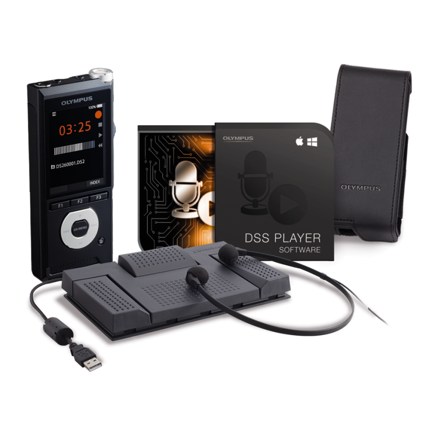 DS-2600 Complete Starter Kit, Entry Level Dictation with Professional Features