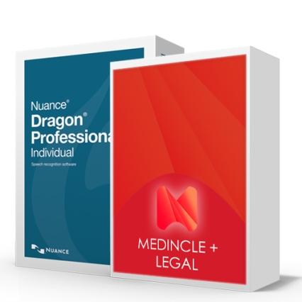 Dragon Pro 15 Legal Bundle with Medincle Plus Add On, Dragon Legal Speech Recognition Bundle from Speak-IT
