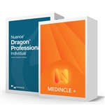 Dragon Professional Individual with Medincle+ Medical Plugin for Medical Speech Recognition. Voice Recognition Software for Medical, healthcare, clinical use.
