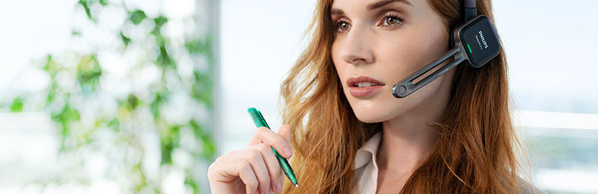 Philips SpeechOne Wireless Headset for accurate Speech Recognition and Hands Free Dictation Lawyer