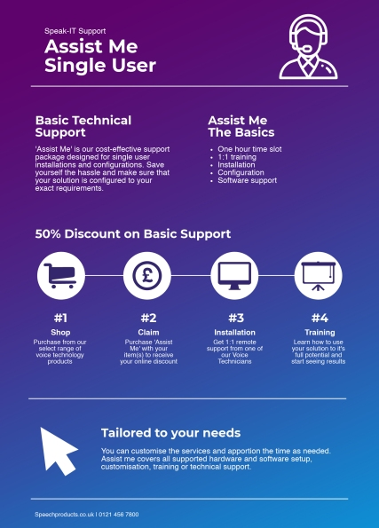 Assist Me Support Option Infographic